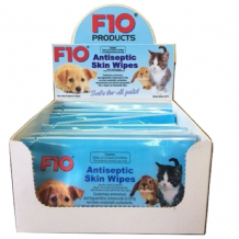 F10 Antiseptic Skin Wipes, box of 20 - **75% OFF!** (BB FEB '20). Now only